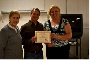 Volunteer recognition for Chuck from United Way