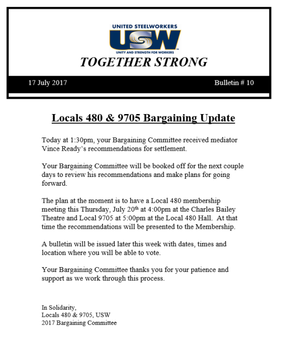 Teck Bargainning Bulletin #9